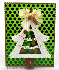 CHRISTMAS TREE TREAT CUP CARD