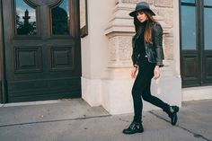 Wearing Diesel Hat, All Saints Leather Jacket, Tiger of Sweden Jeans, Balenciaga Ceinture Ankle Boots // Keep it simple - HER PISTOL GO | Women's Style Blog - HER PISTOL GO | Women's Style Blog