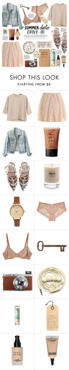 """Summer Movie Date: The Drive-In"" by hafsahshead ❤ liked on Polyvore featuring Chicnova Fashion, NARS Cosmetics, Valentino, Baxter of California, Olivia Burton, Myla, Araks, Jayson Home, Fuji and Urbanears"