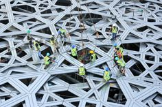 Jean Nouvel's The Louvre Abu Dhabi Dome topped out.
