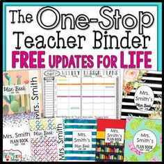 This #1 Selling Teacher Binder is Editable and Customizable! The One Stop EDITABLE Teacher Binder offers tons of useful forms, dated lesson plans, gorgeous designs, and calendars to use throughout the year. Keep yourself well organized in a stylish way while paying only a fraction of the price of what other