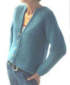 Adult Modular Ladies Cardigan - via @Craftsy