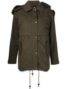 Jocelyn Green Fur Army Jacket