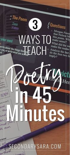 Post - 3 Ways to Teach POETRY in a hurry (in 45 minutes or less)! Sometimes the curriculum doesn't allow for an entire poetry unit. Poetry Unit, Writing Poetry, Poetry Lessons, Poetry Lesson Plans, Math Lessons, Poetry Activities, English Lessons, Gcse English, Ap English