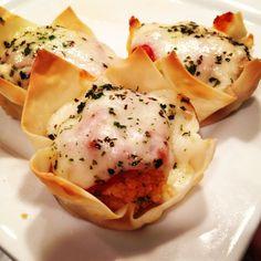chicken parmesan minis, a lighter take on chicken parm