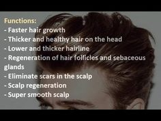 Fast Hair Growth + Thick Hair + Smooth & Flawless Scalp+ Lower Hairline ...