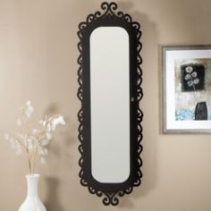 Black Vintage Style Wall Mirror