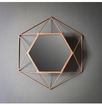 Copper Hexagon Mirror - Small