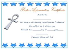Sample of certificate of appreciation for pastor pastor pastor anniversary appreciation certificate 1 yadclub Images