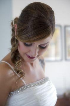 Acconciatura sposa 2015 laterale elegante raccolta - Parrucchiere e bellezza Foligno (PG) - Centro Elios