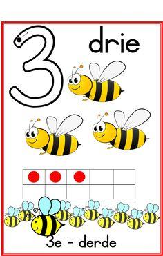 Getalle 1-10 Bytjies Kindergarten Classroom Decor, Kindergarten Lesson Plans, Classroom Activities, Grade R Worksheets, Preschool Worksheets, Free Preschool, School Themes, Afrikaans, Educational Activities