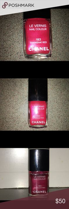 Chanel Le Vernis SHANGHAI RED #183 French Version Chanel Le Vernis Nail Polish in the color SHANGHAI RED #183. This is a slightly different color for the US version I have listed, as this is the French version. This color is a fabulous shimmery red! It has approximately 85%-90% left in the bottle. Please look at my other items for more polish! Please ask any and all questions. Thank you!! CHANEL Makeup
