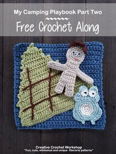 This Camping Playbook Part Two is a fun 'quiet' crochet playbook page inspired by the camping and the outdoors. An interactive playbook. Crochet Baby Toys, Crochet Toddler, Crochet For Kids, Free Crochet, Crochet Hats, Crochet Afghans, Crochet Granny, Crochet Blankets, Knitting Projects