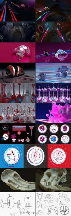 Styleframes and storyboarding for motion graphics  MTV - EMA 2010 by Physalia Studio , via Behance