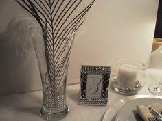 Set of 12 Centerpiece Vases Rhinestone Vases Bling by tiasdresses,