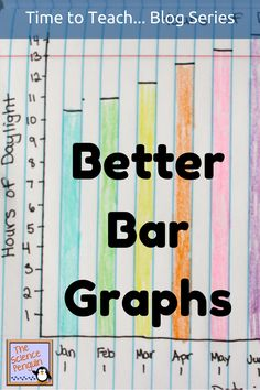 Teaching students how to make better bar graphs: start with labeling the parts of a bar graph. Discuss the steps you take in making a bar graph.  Use authentic data to practice making a bar graph on grid paper.
