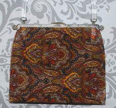 L&M/ Lowry and Mund 3 in 1 purse in orange red by uncommonclassics