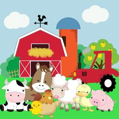 Farm Animals Printable by ImprimiblesCucos on Etsy