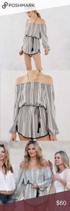 Urban Outfitters Ecote Romper Urban Outfitters Ecote Striped Romper! Size small. Only worn once and in great condition! Urban Outfitters Dresses