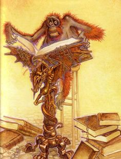 OOK! by Paul Kidby. The Librarian of Terry Pratchett's Discworld Unseen University.