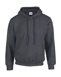Gildan Heavy Blend Erwachsenen Kapuzen-Sweatshirt 18500 grey Dark Heather, M - http://besteckkaufen.com/unbekannt/m-gildan-unisex-kapuzen-sweatshirt-heavy-blend-21