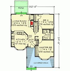 Rustic Vacation Retreat - 46106JB   1st Floor Master Suite, Corner Lot, Cottage, Country, Handicapped Accessible, PDF, Tiny House, Vacation   Architectural Designs
