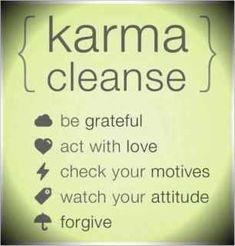 Karma Cleanse!!
