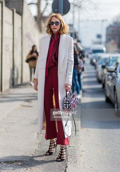 Candela Novembre wearing Fendi coat and bag seen outside Emilio Pucci during Milan Fashion Week Fall/Winter 2016/17 on February 25, 2016, in Milan, Italy