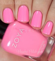 Zoya: Summer 2014 Tickled and Bubbly Collection: Kittridge Zoya Nail Polish, Nail Polish Colors, Manicure And Pedicure, Manicure Ideas, Nail Polishes, Nail Ideas, Pink Nail Colors, Lip Colours, Hot Pink Nails