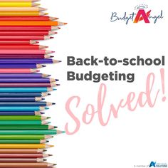 """It's that time again... the mandatory  """"back to school/high school shop""""!  Not only do the schools want money for fees right after the holidays but the school supplies are so colourful and draw any child attention...  good news is... We have a solution for back to school shopping on a budget without breaking the bank! Click the link to the blog below - and make sure you register for the Newsletter for more money saving blogs! Back To School Shopping, High School, Money Saving Tips, School Supplies, Schools, Budgeting, Things To Come, Angel, Child"""