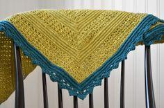 Virkad sjal - crochet shawl - ~ Diagnoskreativ.se