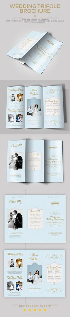 Retro Wedding Program Template  Program Template Brochures And