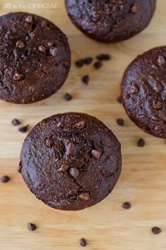 Skinny Double Chocolate Muffins - Life In The Lofthouse