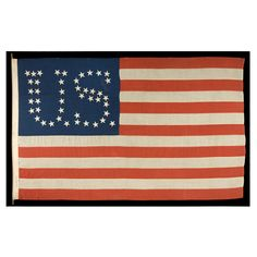 44 Stars Configured Into The Letters , Patented In 1890 American Spirit, American History, American Flag, Patriotic Quilts, Star Spangled Banner, Primitive Fall, Old Glory, Tile Art, Fourth Of July