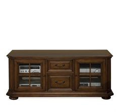 "Riverside Furniture - Cantata 63"" TV Console Burnished Cherry finish"