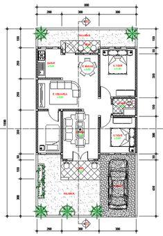 Desain Perumahan Town House Cimahi 7 x 10 Meter - Jasa Desain Rumah Dream House Plans, Modern House Plans, Small House Plans, House Floor Plans, Home Map Design, Home Design Floor Plans, Bungalow House Design, Small House Design, North Facing House