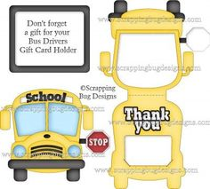 SVG, Paper piecing, Kristi W Designs, cut files scrapping bug designs Bus Driver Appreciation, Teacher Appreciation Week, Teacher Gifts, Teacher Presents, Bus Driver Gifts, School Bus Driver, School Buses, Bus Information, Bus Crafts