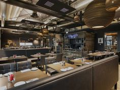 Restaurant design with industrial elements. Interioare - P&M furniture | Mobilier horeca la comanda si design de interior
