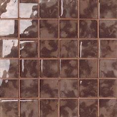 #Settecento #Musiva Mogano 4,5x4,5 on grid 28,6x28,6 cm 100185 | #Glas on ceramic | on #bathroom39.com at 156 Euro/sqm | #mosaic #bathroom #kitchen