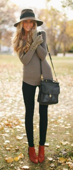 Casual and pretty fall outfit
