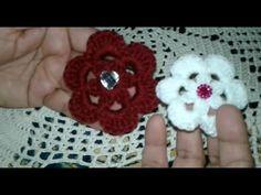 Crocheted flower 6 petals  easy / love croche - ورده كورشيه 6 بتلات سهله...