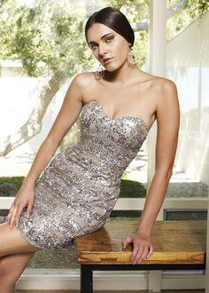 sexy beaded cocktail dress - Scala 47511