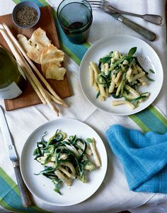 Casareccia with Zucchini and Fresh Basil