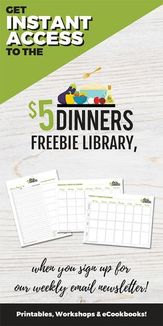 Instant access to $5Dinners freebie library!!! Freebies for everyone! Who wants free printables??   #free #freebies #freeprintables #newsletter #instantaccess #mealplans #menuplanning #shoppinglist #calendars #organization #kitchenhelp #5dollardinners #recipe #recipes Gluten Free Meal Plan, Back To School Hacks, School Lunch Box, Save Money On Groceries, Lunchbox Ideas, Email Newsletters, Instant Access, Batch Cooking, Budget Meals