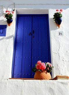 Door in Frigiliana, Southern Spain