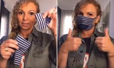 Safia Aggoune, a dancer from Amsterdam, took to her Tik Tok account, to demonstrate how to make the mask with one sock and a few simple incisions without any sewing. Easy Face Masks, Diy Face Mask, What To Use, How To Make, Homemade Mask, Her Cut, Crazy Socks, Kids Socks, Diy Mask