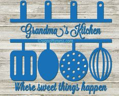 Grandma's Kitchen Mommy's Kitchen Cut File For Cricut, Silhouette, Cameo and Other Cutting Machines  File comes with: Grandma, Nana, Mom, Mommy, Mama  I work only with licensed fonts. I do not trace designs. Because they are original, they cut cleanly. When necessary, fonts are altered and cleaned up for a better cut.  Your file is an instant download. You will find the link in your email confirmation from Etsy. You can also find it by clicking on the YOU in the upper right corner, and then…