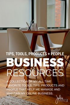Online Business Resources: A collection of my all time favorite tools, tips, products and people. From free downloads, worksheets, workbooks, e-courses, editorial calendars, people, products, and words of wisdom. This is my mega library of creative support that I use to run my online business. | Julie Harris Design