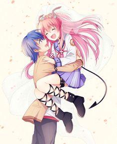 [Kawaii]Hinata x Yui [Angel Beats!] i juste love the two of thème together Anime Couples Manga, Cute Anime Couples, Manga Anime, Anime Art, Anime Girls, Otaku, Vocaloid, Ashita No Nadja, Beats Wallpaper
