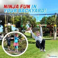 Backyard Toys, Backyard Patio Designs, Backyard Playground, Backyard Landscaping, Kids Outdoor Play, Outdoor Gym, Cool Gadgets To Buy, Ninja Warrior, Obstacle Course